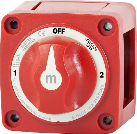 Blue Sea 6008 Mini Battery Selector Switch 1-2-OFF