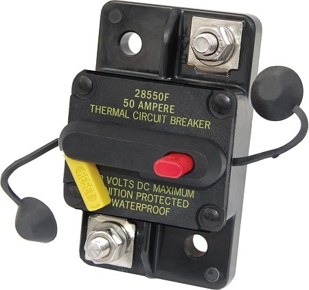 Blue Sea 7183 Surface Mount 285-Series Circuit Breaker 50 Amps