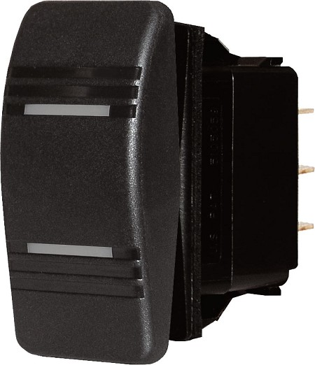 Blue Sea 8286 Contura Switch DPDT ON-OFF-ON Black