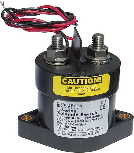 Blue Sea 9012 Solenoid L Series 250A 12/24V with CE