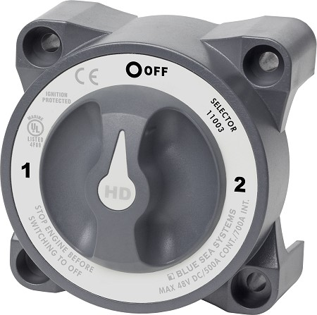 Blue Sea 11003 Heavy Duty Battery Selector Switch with AFD