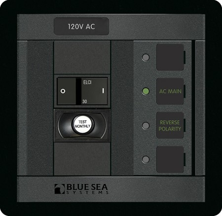 Blue Sea 1502 ELCI Main 30A Double Pole Panel
