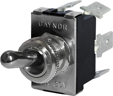 Blue Sea 4155 Switch WD Toggle DPDT ON-OFF-ON