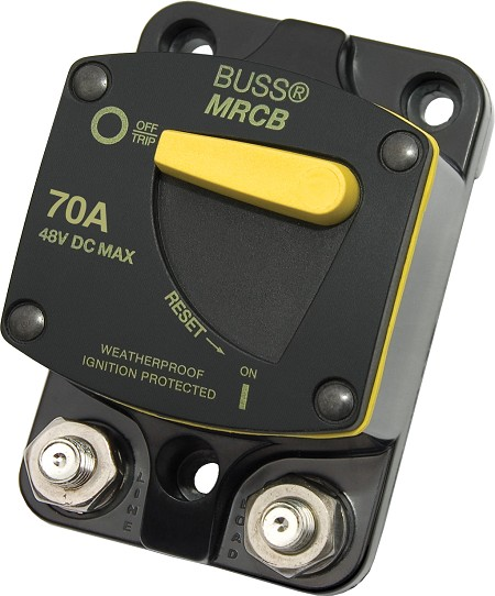 Blue Sea 7141 Surface Mount 187-Series DC Circuit Breaker 70 Amps