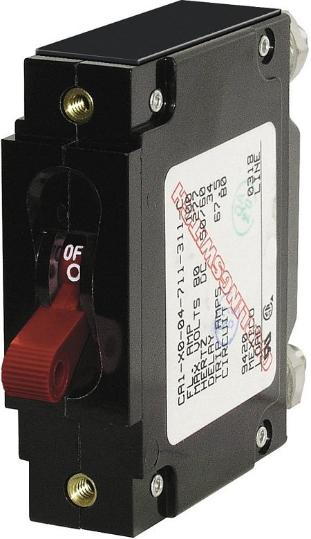 Blue Sea 7250I C-Frame Single Pole Circuit Breaker Toggle 100 Amps IPRed
