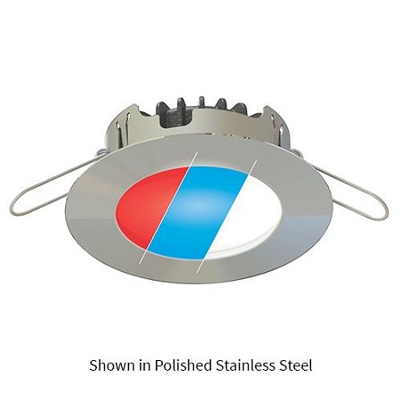 Imtra ILIM59702 Blade PowerLED Tri-Color, 10-40VDC, Brushed Stainless Steel finish, Red/Blue/Warm, 5.0W,