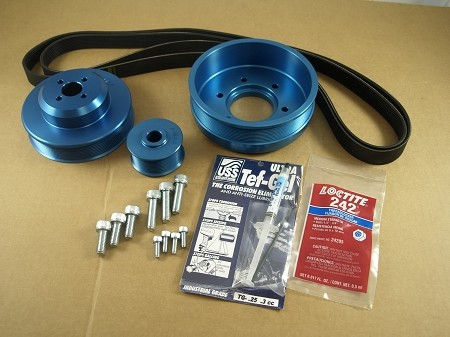 Balmar 48-YSP-6LY-A Pulley Kit for Yanmar 6LY, 6LYA-STP, 6LY2-STP