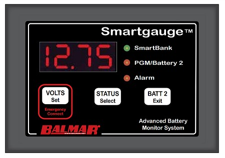 Balmar 44-SG-12/24 Smart Gauge Battery Monitor
